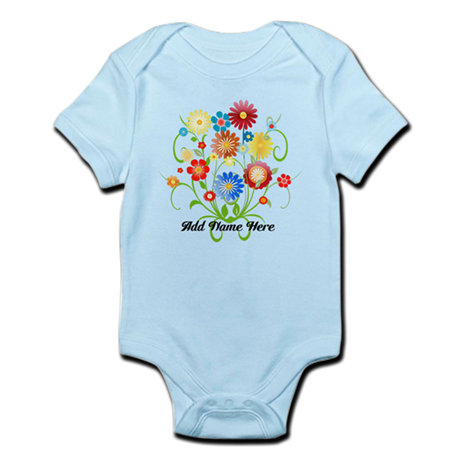 Personalized floral light Infant Bodysuit