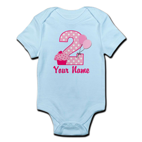 2nd Birthday Cupcake Infant Bodysuit
