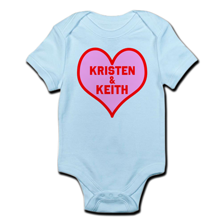 Personalized with names Valentines day heart Infan