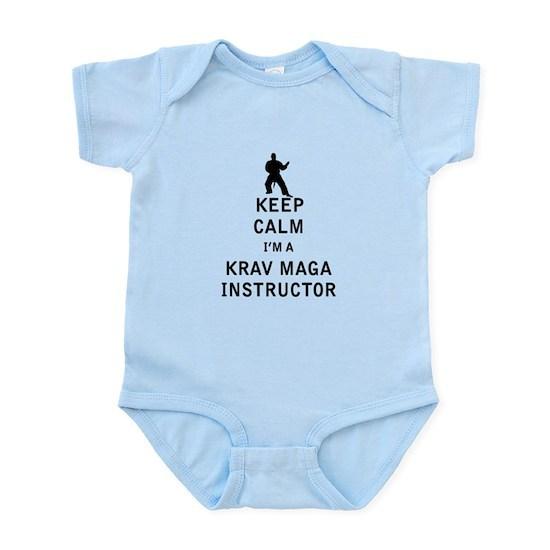 997edeb0d Keep Calm I'm a Krav Maga Instructor Baby Light Bodysuit