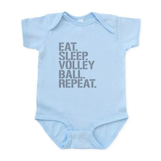 eat sleep volleyball repeat baby light bodysuit eat sleep