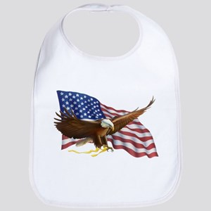 American Flag and Eagle Bib