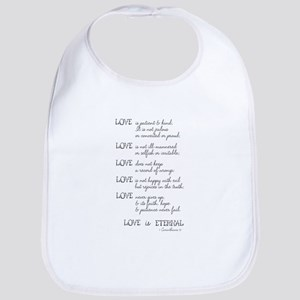 Love is Patient Verse Bib