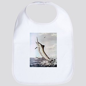 Striped Marlin Cotton Baby Bib