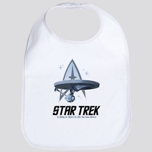 Star Trek Ship with Stars Bib