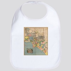 Vintage Map of Los Angeles County CA (188 Baby Bib