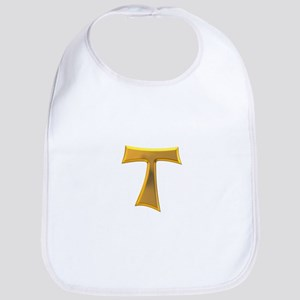 Golden Franciscan Tau Cross Bib