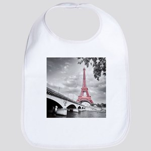 Pink Eiffel Tower Bib