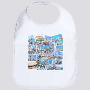 Italy Collage Bib