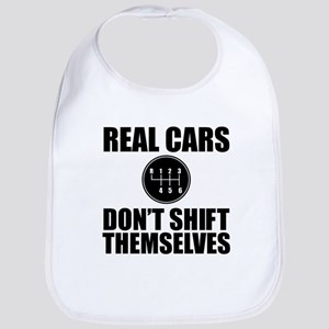 Real Cars Don't Shift Themselves Baby Bib
