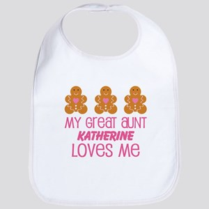 Personalized Great Aunt gift Baby Bib