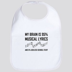 Brain Musical Lyrics Funny Baby Bib