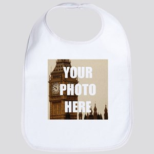 Your Photo Here Personalize It! Cotton Baby Bib