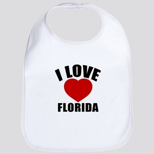 I Love Florida Bib