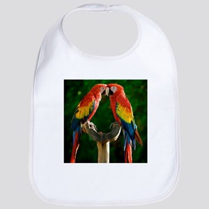 Beautiful Parrots Bib