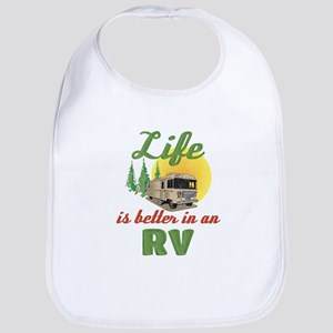 Life's Better In An RV Cotton Baby Bib