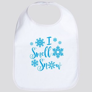 I Smell Snow Baby Bib