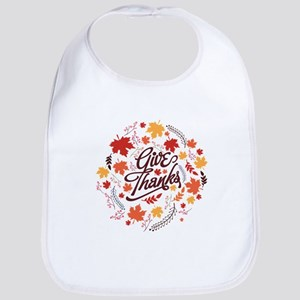 Give Thanks Cotton Baby Bib