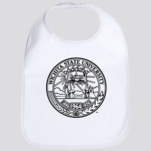 Wichita State University Crest Cotton Baby Bib