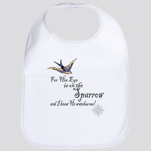 His Eye Is On The Sparrow Large Baby Bib