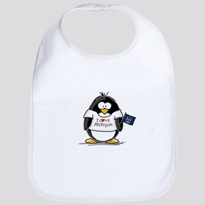 Michigan Penguin Bib