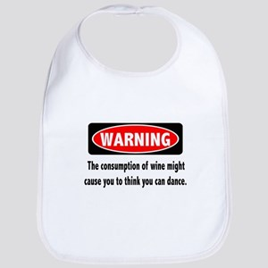 Wine Warning Bib