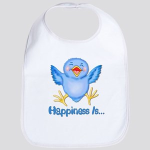 Bluebirds are Birds of Happiness Bib