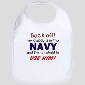 Navy Daddy Bib
