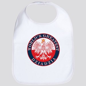 Round World's Greatest Dziadzia Bib