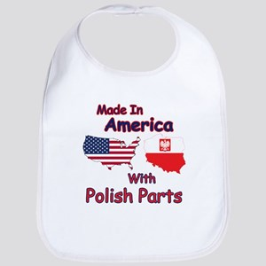 America With Polish Parts Bib