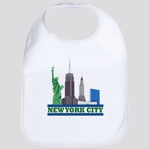 New York City Skyline Bib
