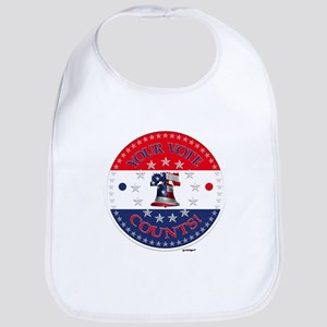 Your Vote Counts Liberty Bell Bib