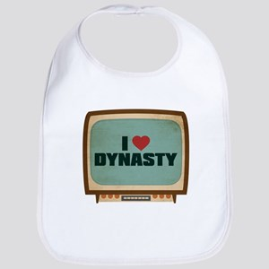 Retro I Heart Dynasty Bib