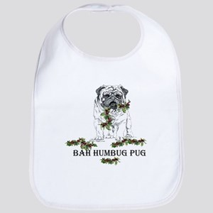 Christmas Pug Holiday Dog Bib