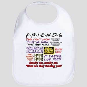 Friends Quotes Cotton Baby Bib