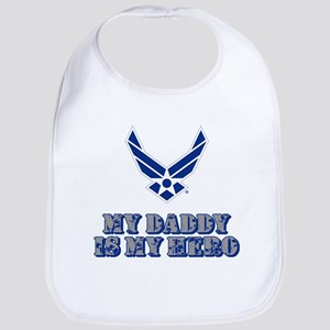 USAF My Daddy is my Hero Cotton Baby Bib