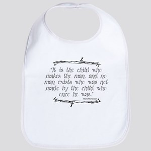 Child Makes the Man Bib