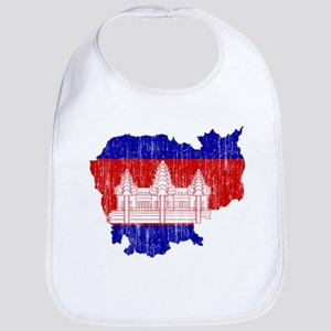 Cambodia Flag And Map Bib