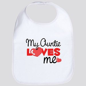 My Auntie Love Me (red) Bib