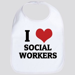 I Love Social Workers Bib