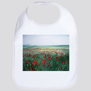 poppy poppies art Bib