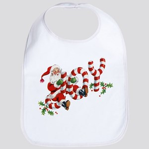 Vintage Joy and Santa Bib