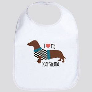 Love My Dachshund Bib