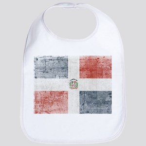 Dominican Republic Distressed Flag Bib