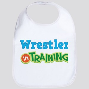 Wrestler in Training Cotton Baby Bib