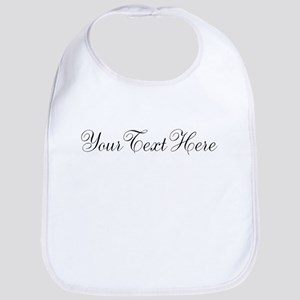 Your Text in Script Baby Bib