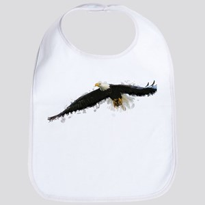 Watercolor Soaring Eagle Bib