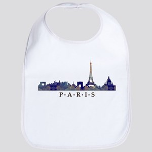Mosaic Skyline of Paris France Bib