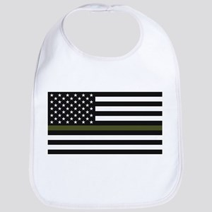 Thin Blue Line Decal - USA Flag - Red, Bl Baby Bib