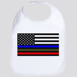 Thin Blue Line Decal - USA Flag Red, Blue Baby Bib